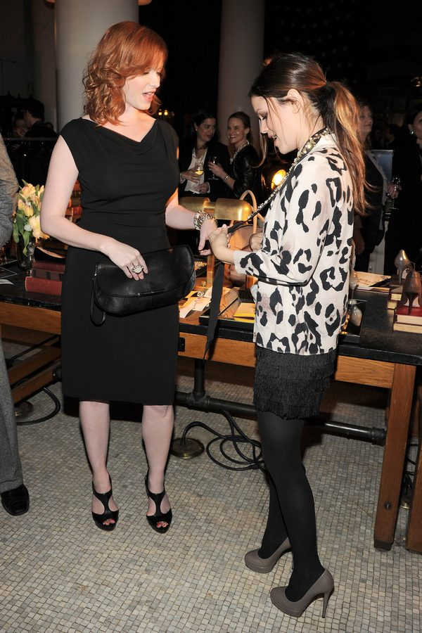 Christina Hendricks, Rachel Bilson Ann Taylor Fall 2010 Celebration at the ACE Hotel in NYC