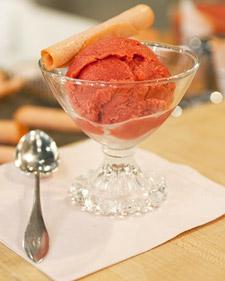 Raspberry Rhubarb Sorbet Recipe
