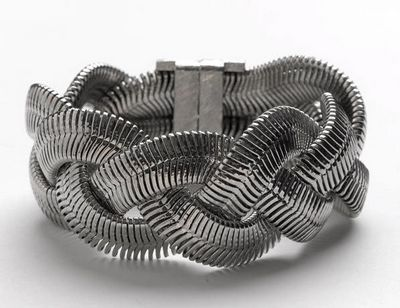 Metal Braid Bracelet- Silver