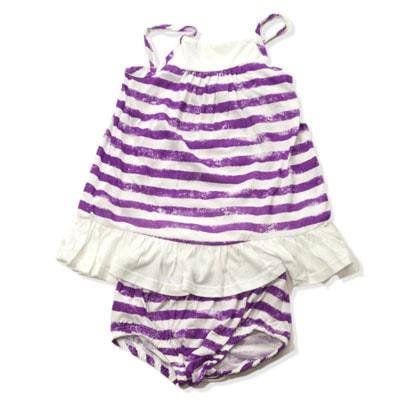 Lil Swanky Purple Striped Dress