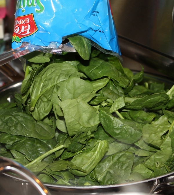 Salad greens in bowl