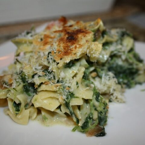 Spinach And Egg Noodle Casserole Recipe