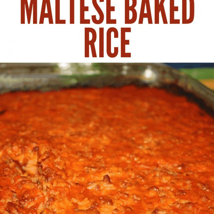 maltese baked rice homemade