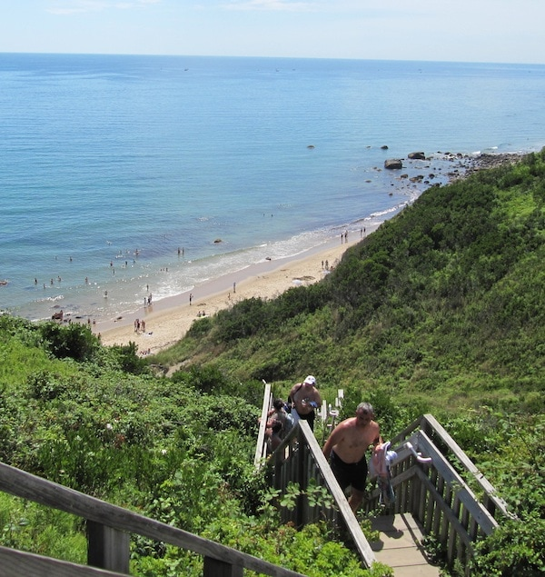 Mohegan Bluffs On Block Island