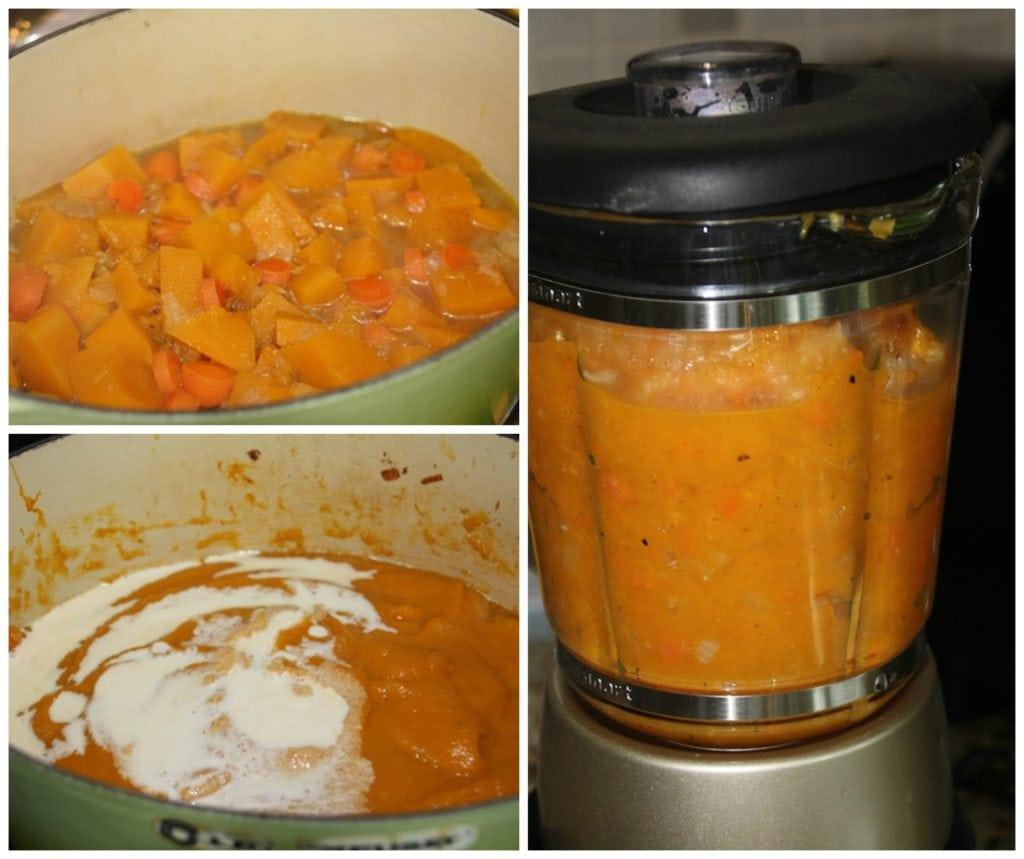 blend your butternut squash soup in a blender