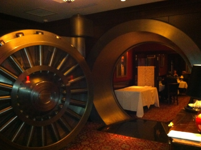 Old Bank Vault in Capital Grill NYC - Downstairs in the basement