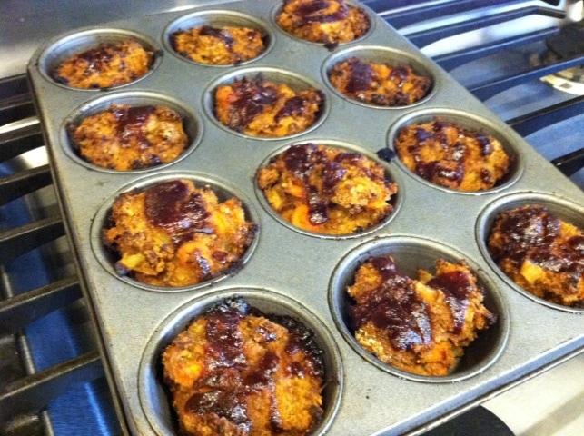 Mini BBQ Ground Turkey Meatloaf Muffins Recipe