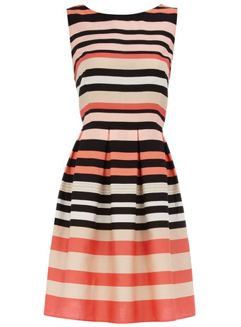 Dorothy Perkins Pink stripe prom dress