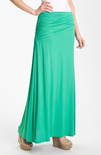 Bobeau Asymmetric Knit Maxi Skirt