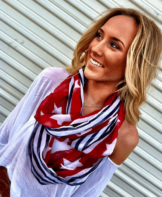 american flag scarf july 4th red white blue