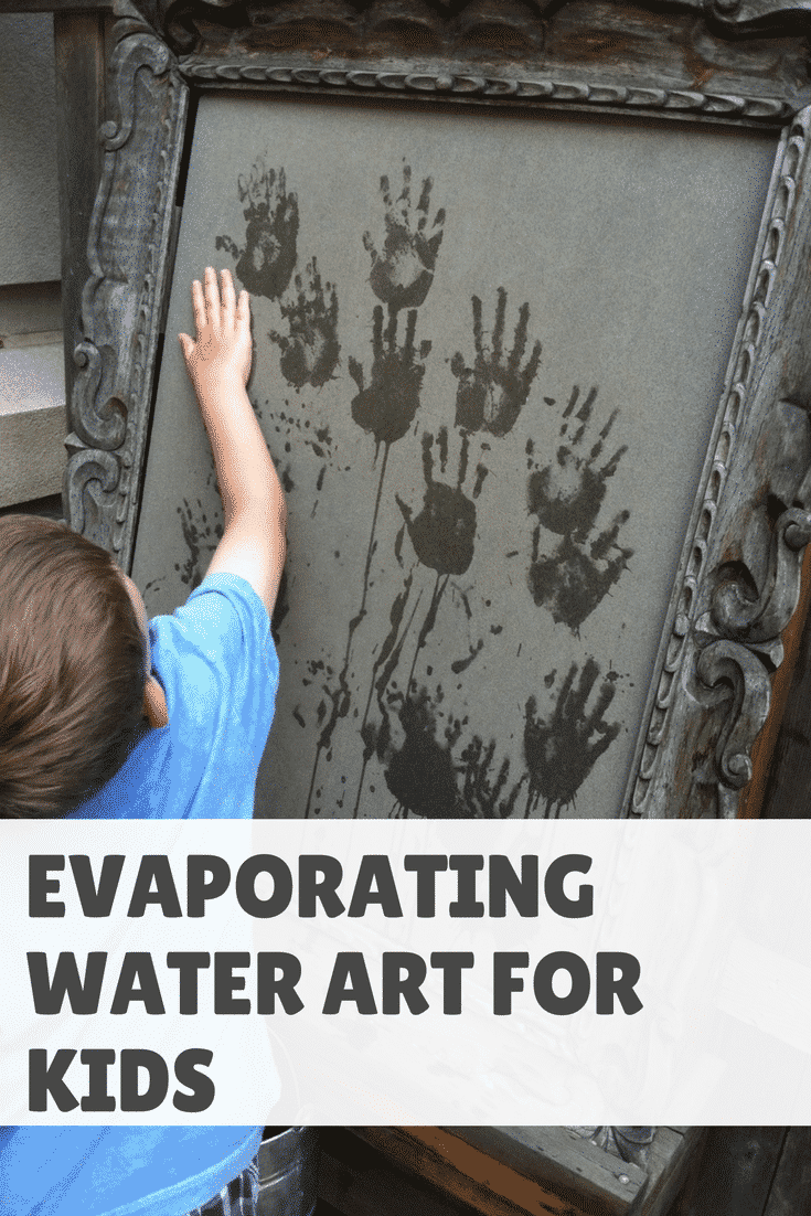 Evaporating Water Art For Kids: Backyard Set Up (VIDEO)