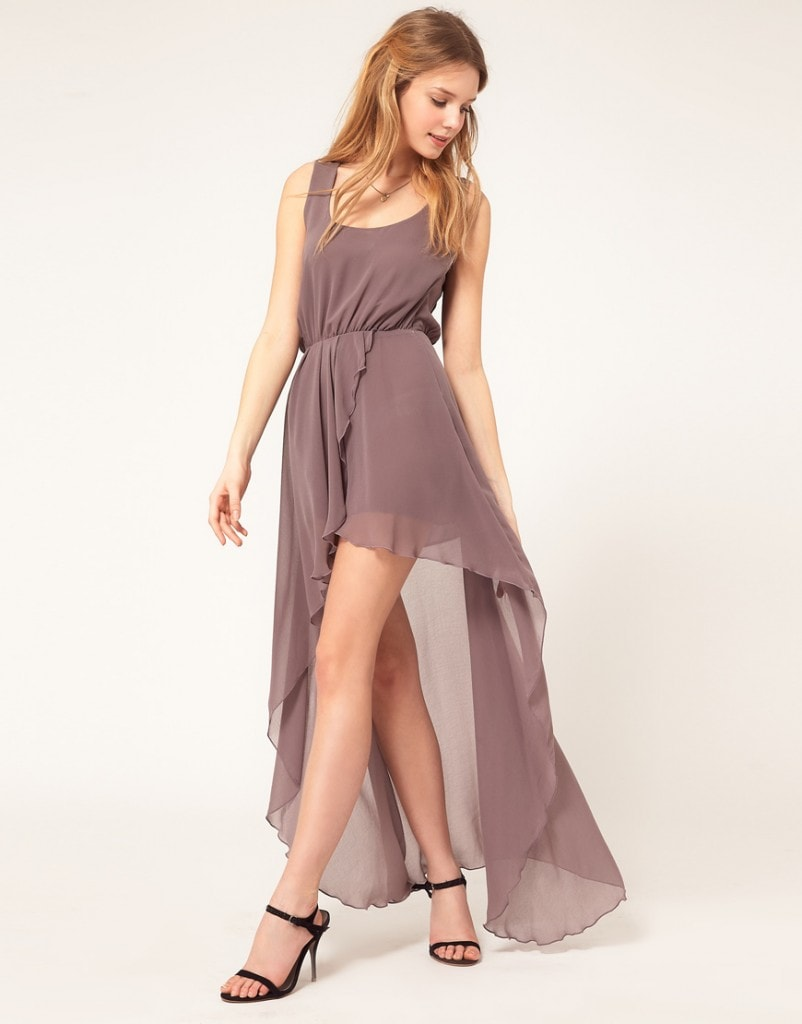 Love Chiffon Wrap Hi Lo Dress