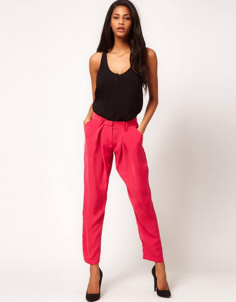 ASOS Soft Peg Pants With Pleat Detail