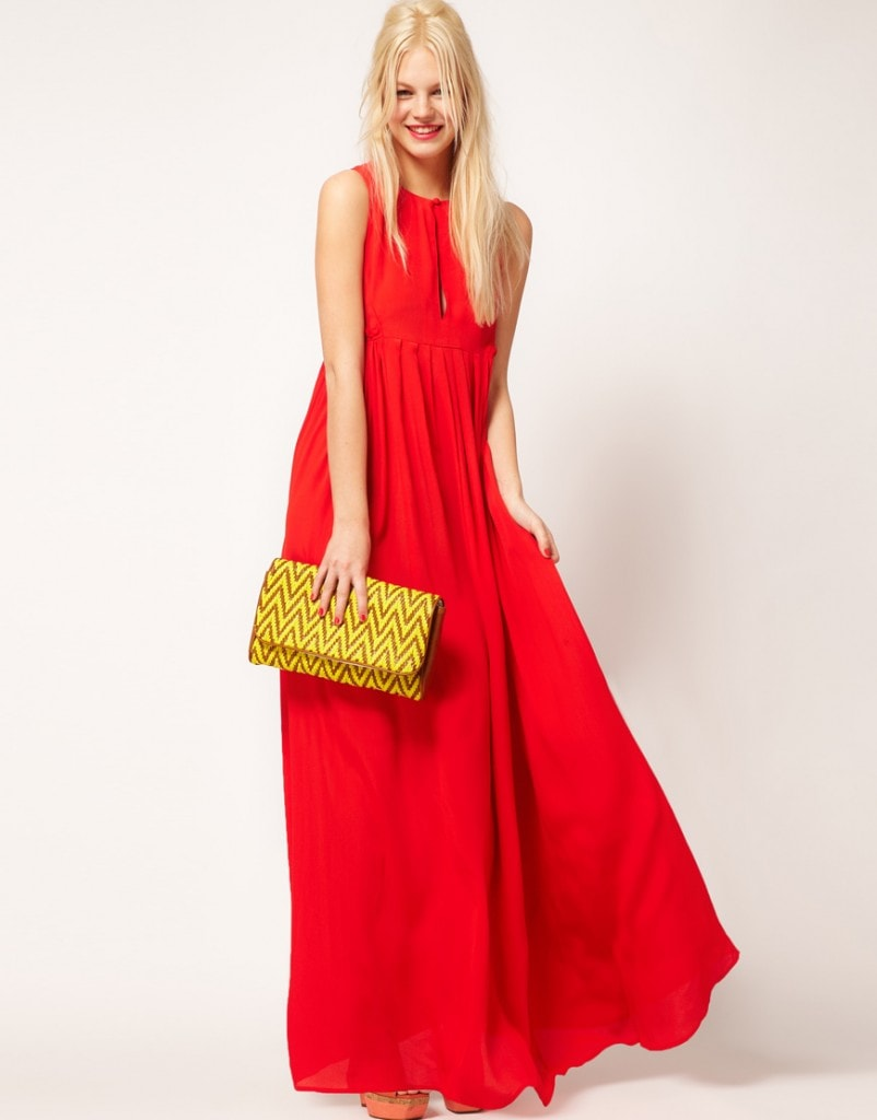 ASOS Sleeveless Pleated Maxi Dress