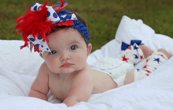 july 4th baby bow
