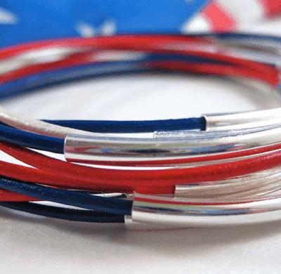july 4th bracelets red white blue