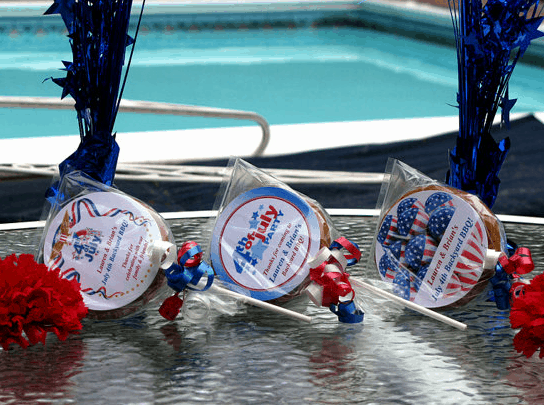 july 4th cookie favors