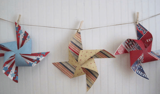 july 4th party decoration pinwheel