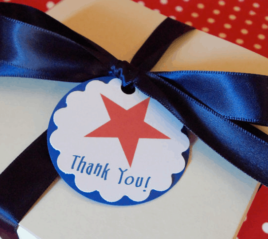 july 4th patriotic favor tags