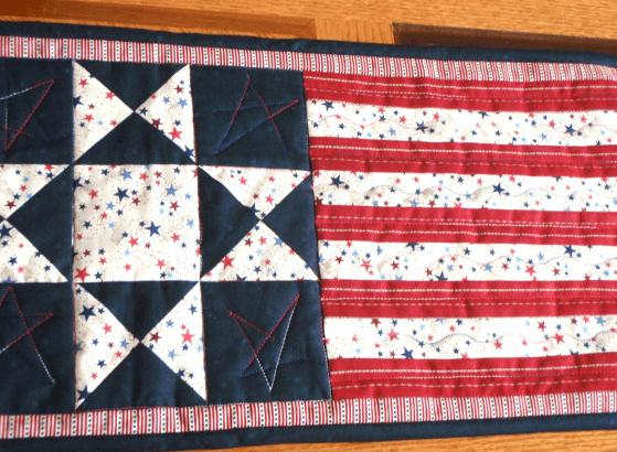 july 4th table runner flag