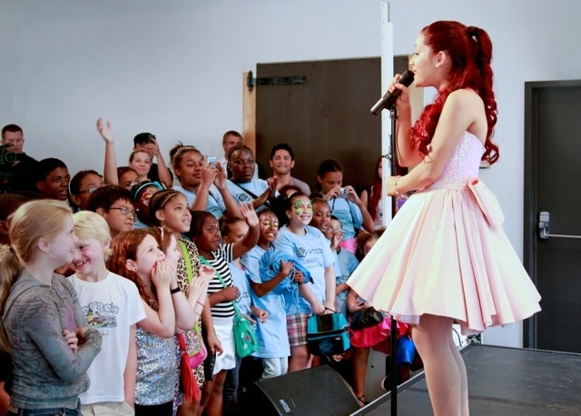 Ariana Grande Performs At Kleenex Event