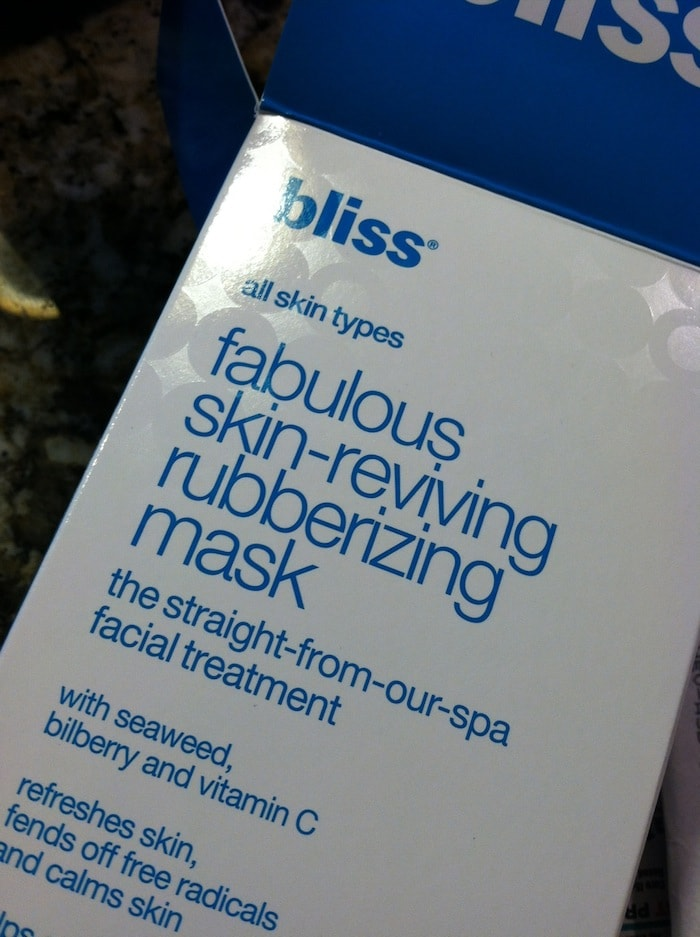 bliss fabulous skin reviving rubberizing mask
