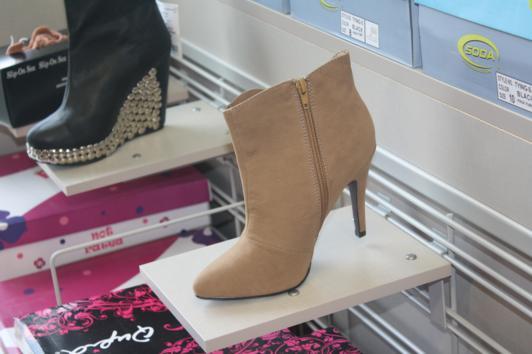booties on display