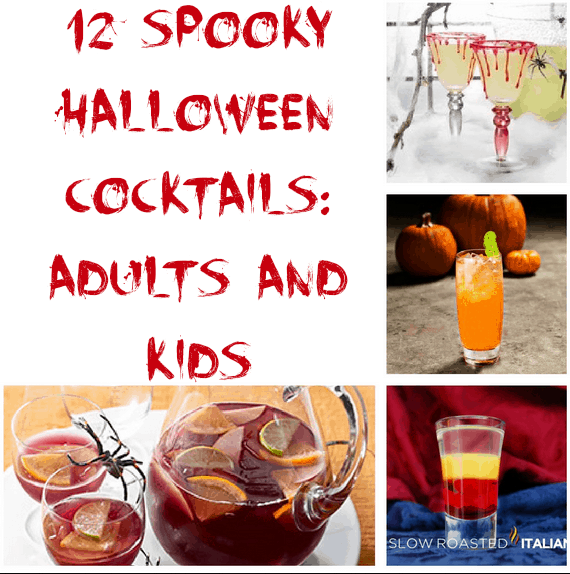 spooky cocktail for halloween drinks for adults and kids