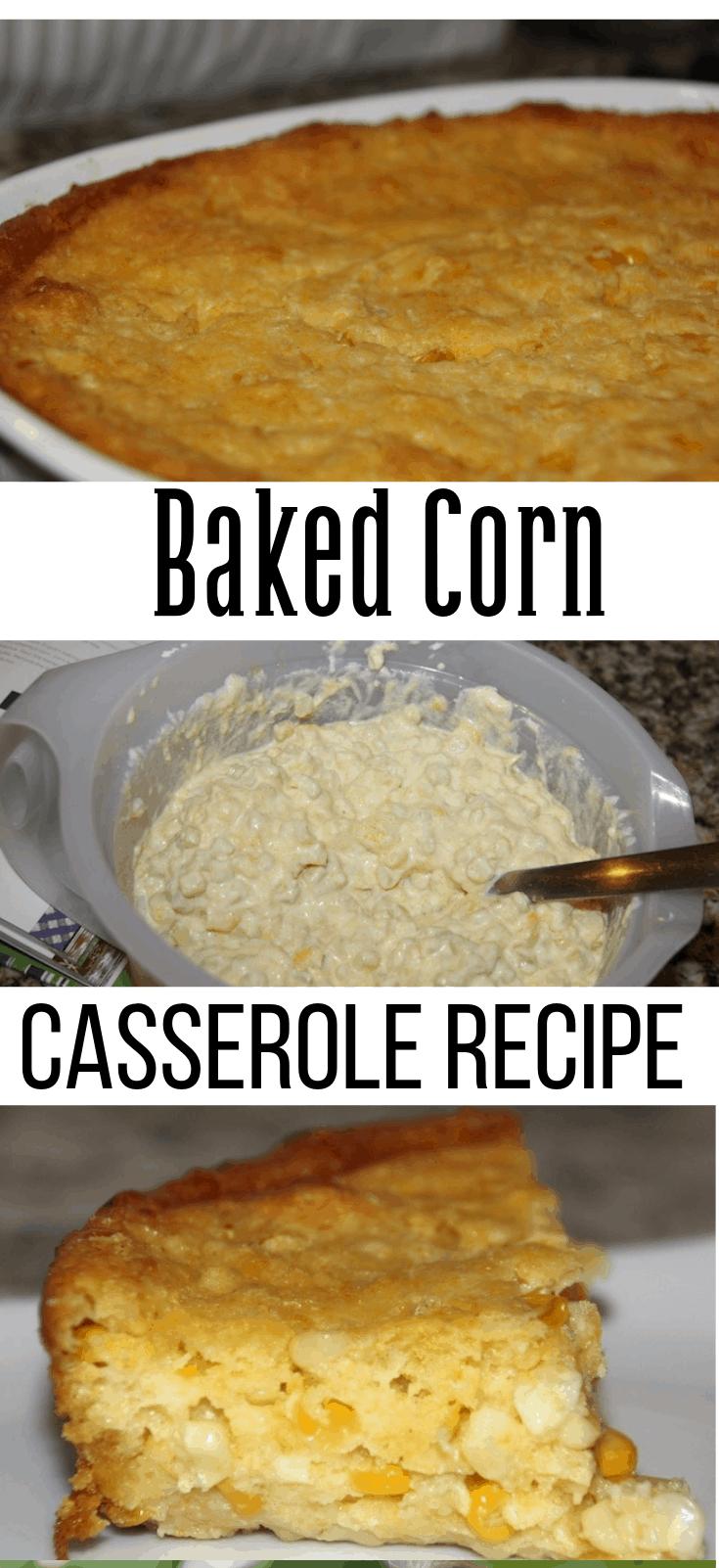 Baked Corn Casserole Recipe