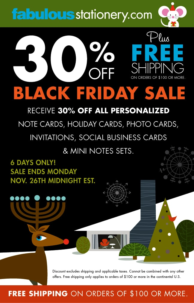 2e46827acbe Fabulous Stationery Black Friday Deals 2012 —  http   www.fabulousstationery.com