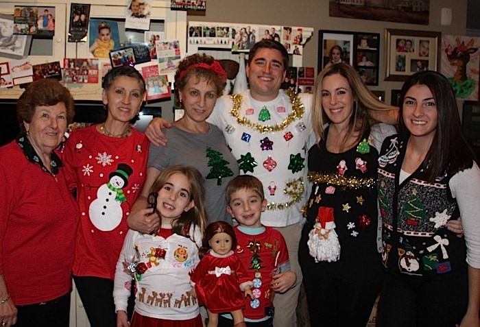 Ugly christmas sweaters for whole family