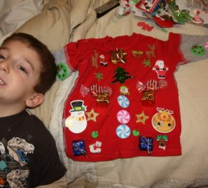 ugly christmas sweater with kids how to
