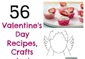 valentines day crafts recipes kids