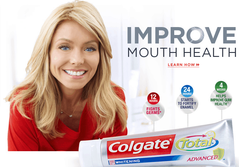 Colgate Total and Kelly Ripa