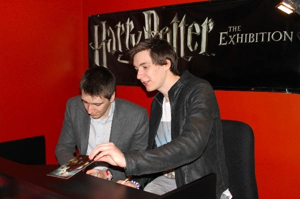 Exclusive Interview with James & Oliver Phelps (Fred and George Weasley - The Weasley Twins) at Harry Potter: The Exhibition