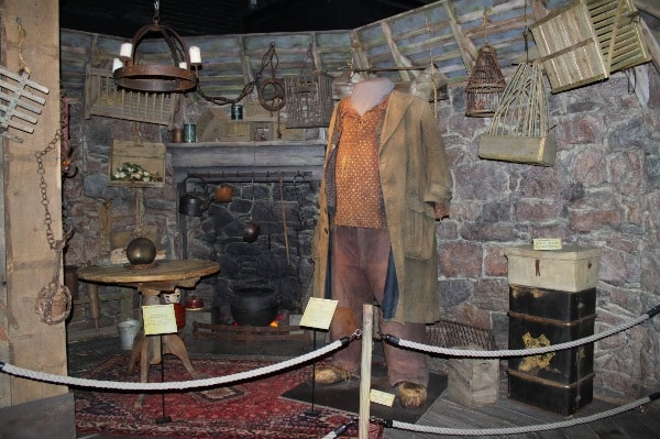 recreation of the cabin of Rebeus Hagrid