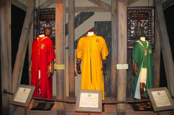 Quidditch uniforms for Gryffindor, Hufflepuff and Slytherin houses