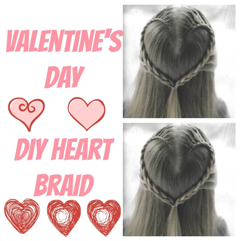 valentine day hair braid