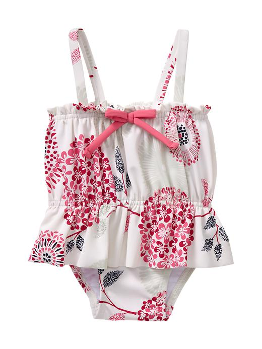 Frilly And Sweet Adorable Infant Girl Bathing Suits Under
