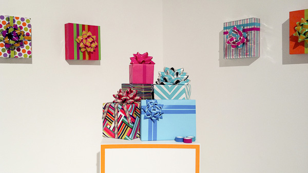 Post-It Party gift wrap