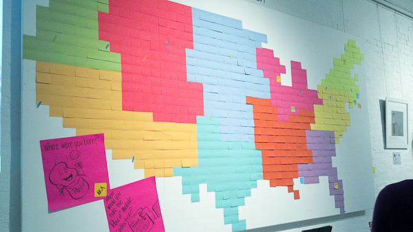 Post-It Party Wall Art USA