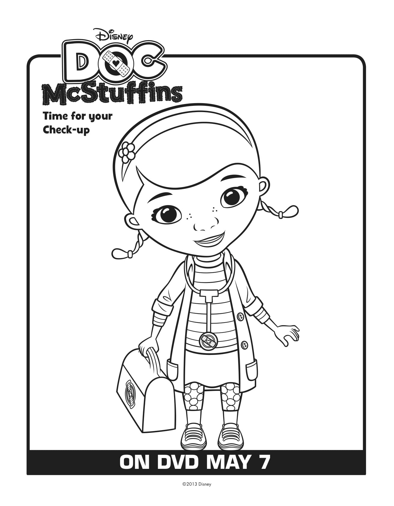 Fin fun coloring pages ~ Free Doc McStuffins Printables: Download Here - Lady and ...