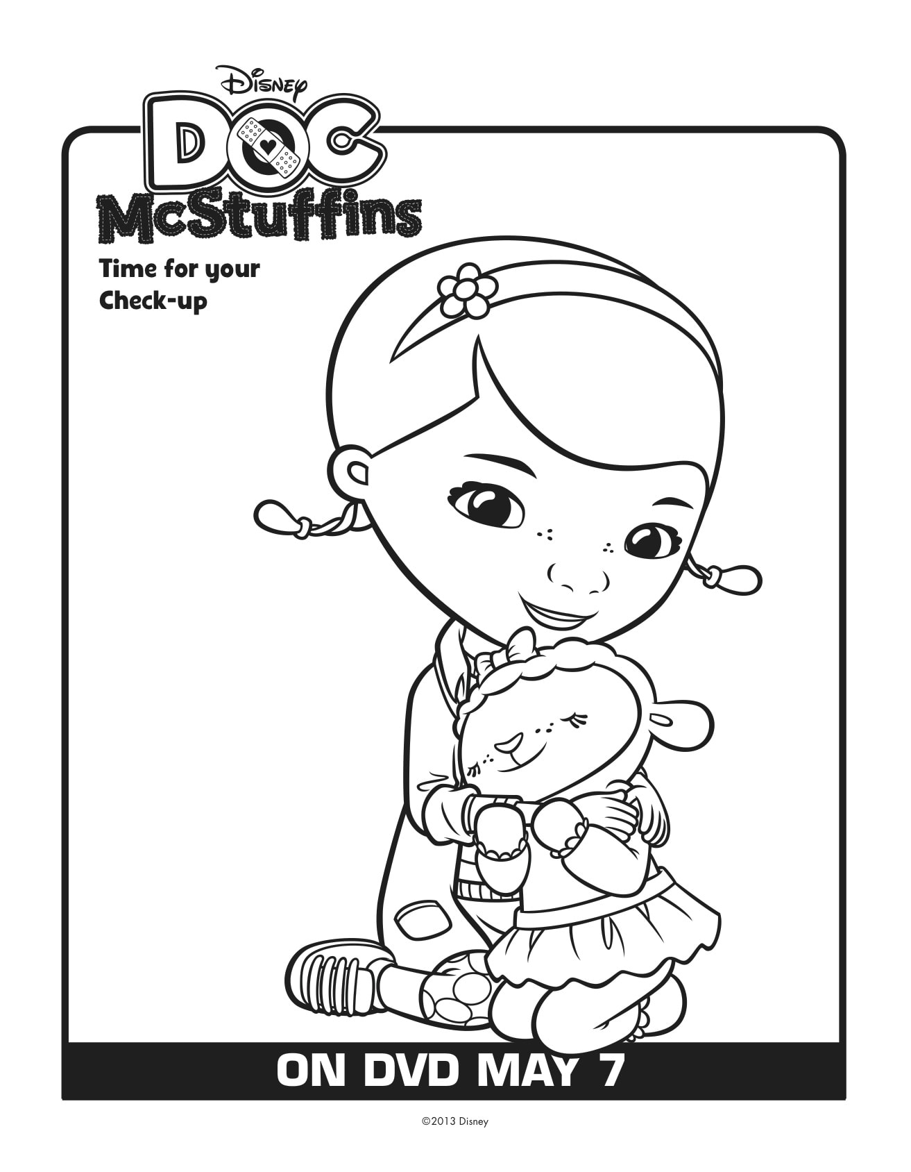 Luscious image with regard to doc mcstuffins printable coloring pages