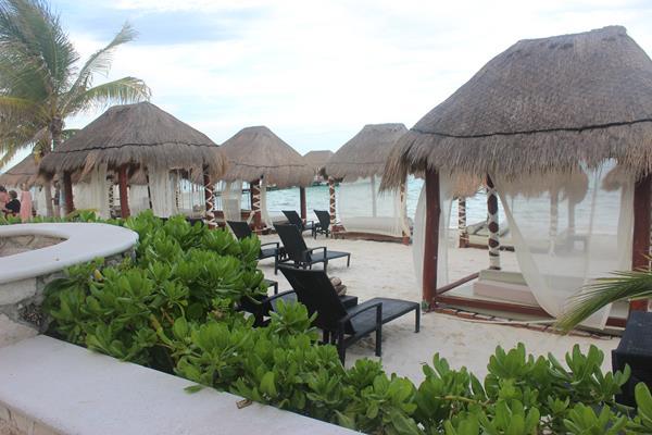 Beachside cabanas