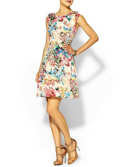 Piperlime Floral Swing Dress