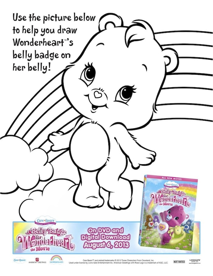 photograph about Care Bear Belly Badges Printable identify No cost Downloadable Treatment Undergo Coloring Internet pages: Rejoice