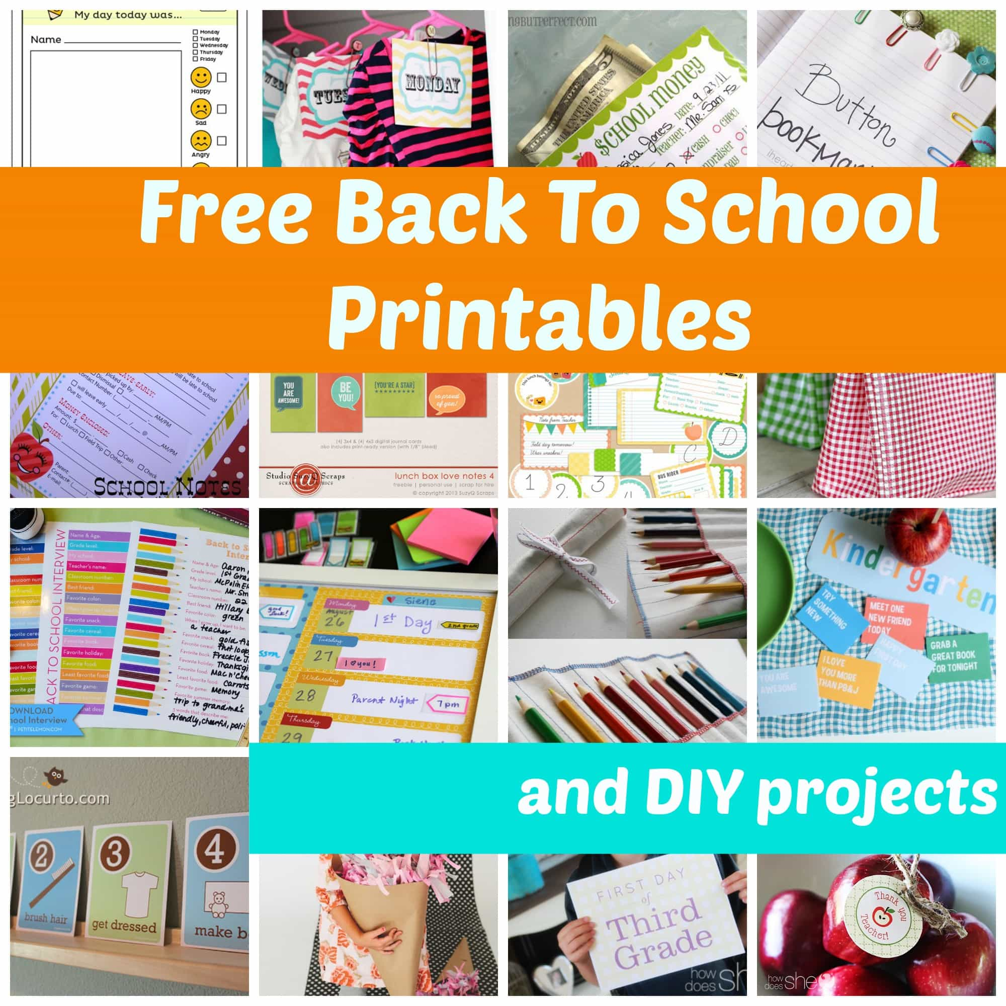 Free Back To School Ideas To Make Their First Day Special