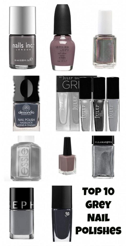 Top 10 Grey Nail Polishes