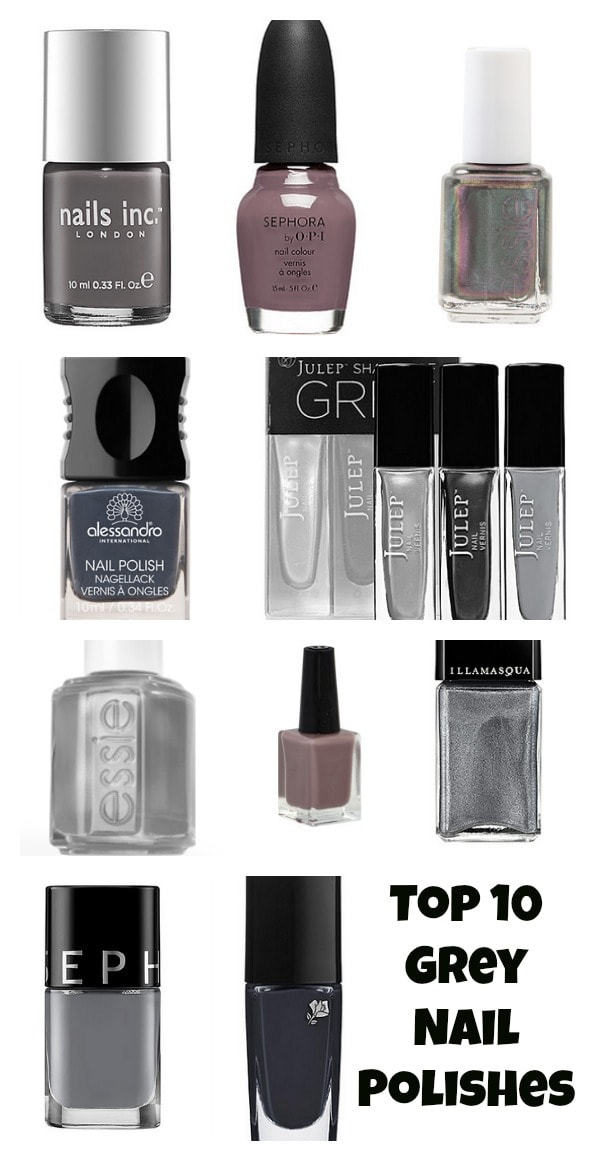 Top 10 Grey Nail Polishes For The Fall - Lady and the Blog