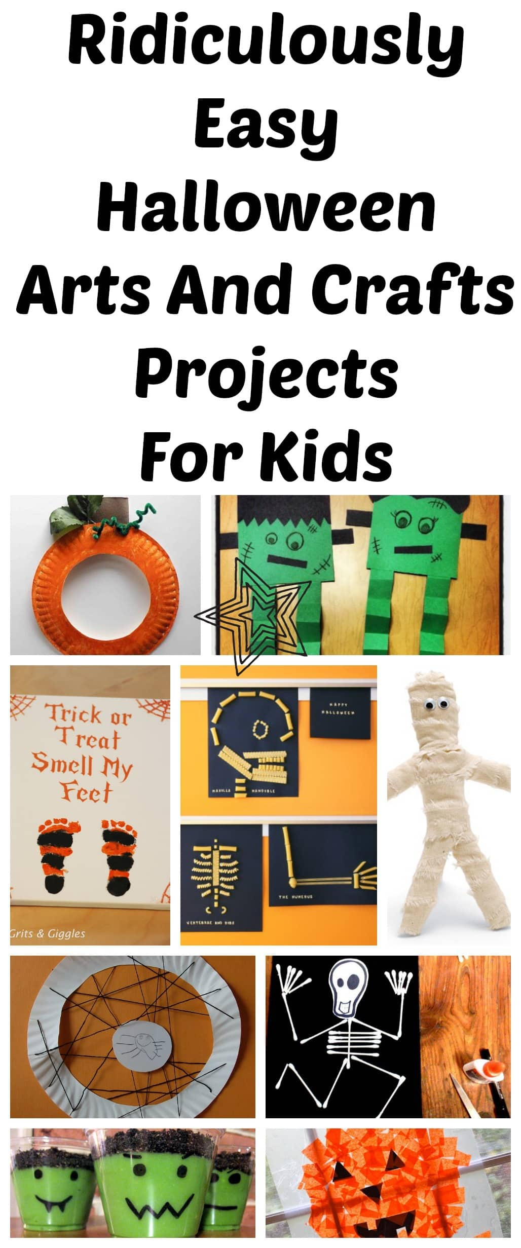 10 ridiculously easy halloween arts and crafts projects to do with